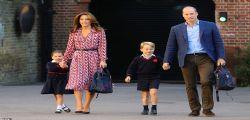 Primo giorno di scuola per Charlotte e George nel ricordo di Lady Diana