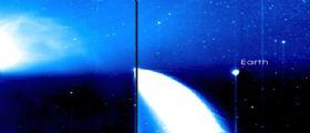 La cometa PanSTARRS e la Terra insieme nella stessa foto by NASA STEREO-B