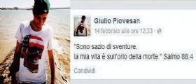Montebelluna, dopo un post su Fb Giulio Piovesan si toglie la vita: E