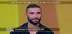 Silvio Berlusconi interviene a Quinta Colonna per aiutare uno sfrattato