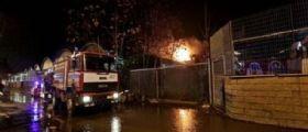 Roma, incendio al quartiere Prenestino : Un morto