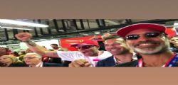 La Ferrari vince a Monza! Raz Degan, Lapo Elkann e Del Piero scatenati nel box della Rossa