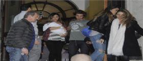 Belen Rodriguez mamma torna a casa con Santiago