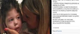 Stamina / Morto il piccolo Gioele Genova di soli 4 anni : Su Facebook il post commovente del papà