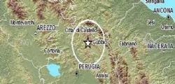Terremoto Perugia : Scossa a Gubbio magnitudo 3.6