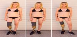 Lauren Wasser : La modella senza gambe per un assorbente interno