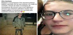 Casoria : Il 16enne Ciro Ascione scomparso sabato, cadavere sui binari