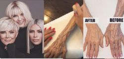 Kim Kardashian trucca la nonna ottantenne