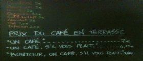 Francia : A Nizza 7 euro il caffè per i clienti maleducati