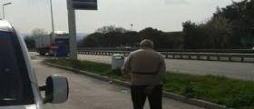 Macerata : 80enne abbandonato sulla superstrada dal figlio dopo un litigio