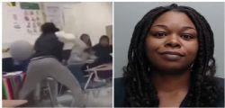Professoressa picchia una studentessa disabile! Le immagini choc