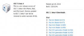 Apple iOS 7.1 Beta 4 agli sviluppatori : Link Diretti al Download