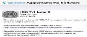 iOS 7.1 Beta 3 : La Apple lo rilascia agli sviluppatori Link al Download