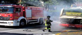 Amalfi, Salerno : Autobus avvolto dalle fiamme in costiera