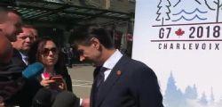 G7 : Il premier Giuseppe Conte preso per un braccio e trascinato via
