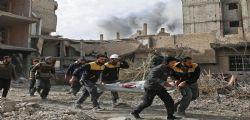 Siria - bombardamenti sulla Ghuta: uccisi 75 civili tra cui bambini, neonati e donne