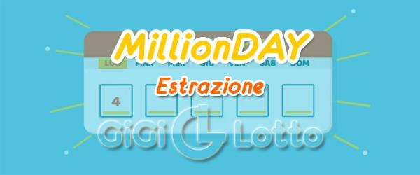 Estrazione MillionDAY del 04-12-2019 di mercoledì
