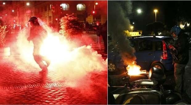 Proteste lockdown : bombe carta e scontri a piazza del Popolo