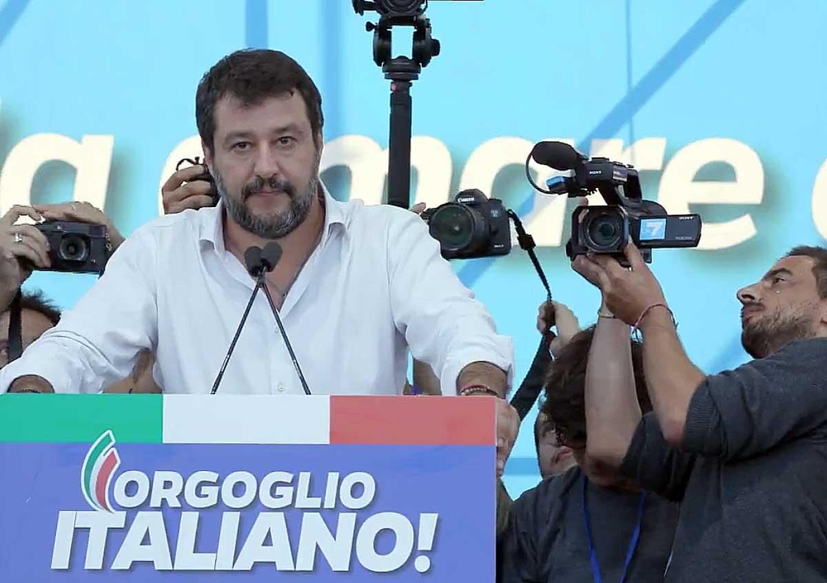 """""""Siamo 200 mila!"""", dice Salvini. Ma i conti alla manifestazi"""