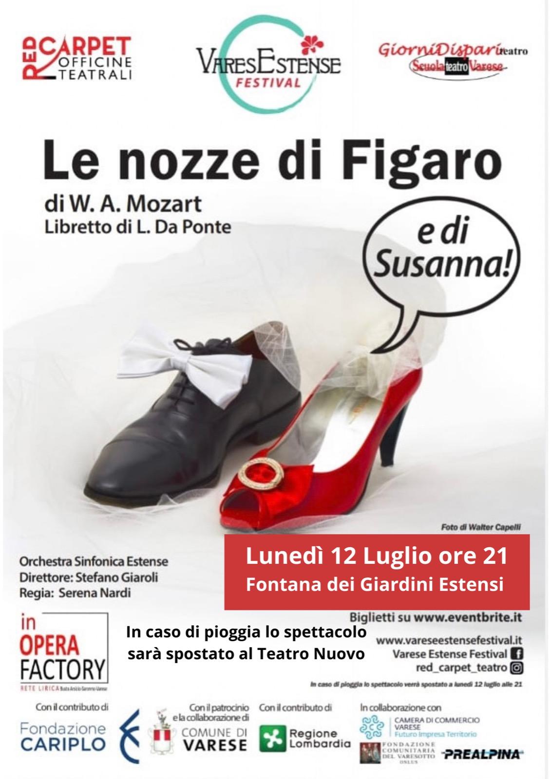 Le nozze di Figaro chiudono il Varese Estense Festival