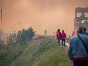 Roghi Pisa : due incendi ancora da domare
