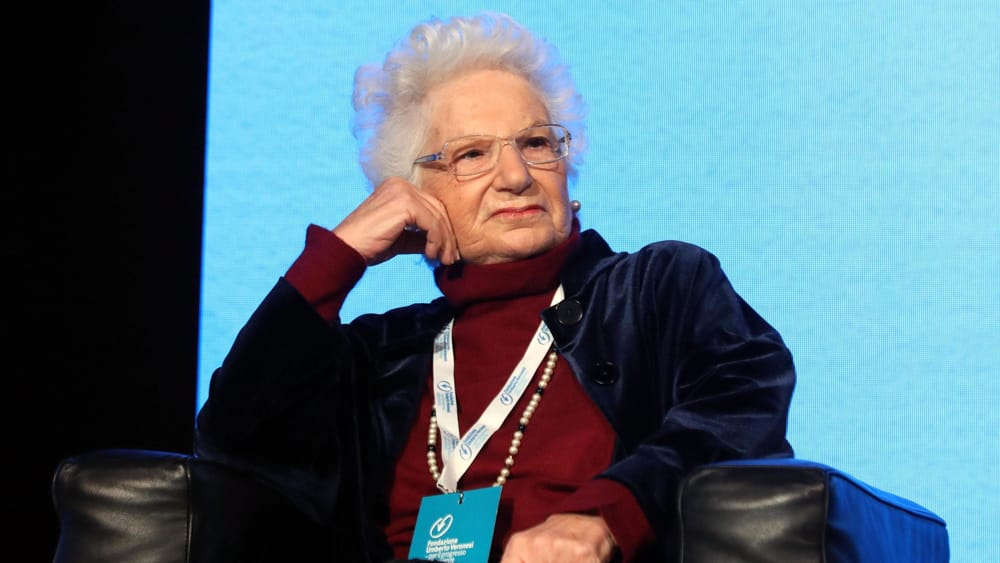 Liliana Segre a Roma per dare la fiducia a Conte