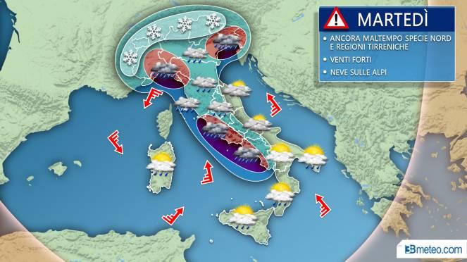 Meteo, le previsioni di martedì 19 novembre. VIDEO