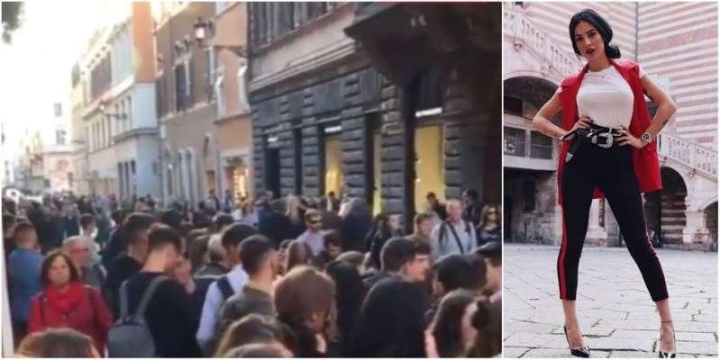 Giulia De Lellis manda in tilt Roma: troppi fan allevento