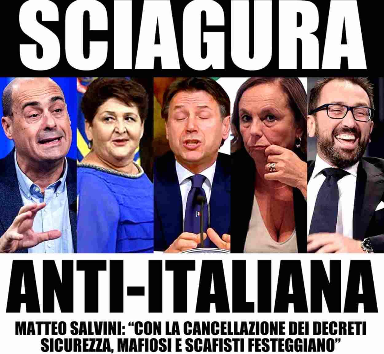 Matteo Salvini, decreti sicurezza? Mafiosi e scafisti festeggiano