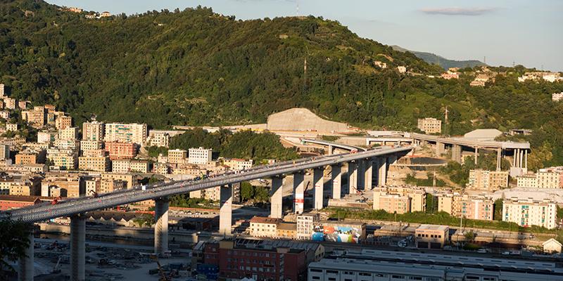 Oggi verrà inaugurato il nuovo ponte Genova San Giorgio :  il video dal drone